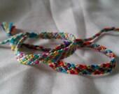 Friendship Bracelet - CUSTOM Multicoloured 'Rag-Rug' Adjustable