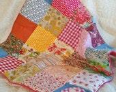 Custom order for Melissa Langdon Stroller quilt/ baby girl playmat in Pinks