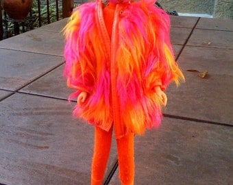 francie hot pink fur coat outfit