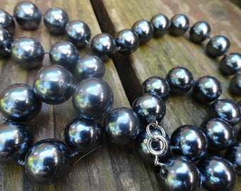 faux Grey Pearl Necklace choker