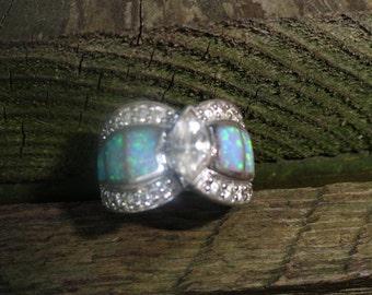 sterling silver designer EG ring