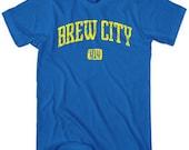 Brew City 414 T-shirt - Men and Unisex - XS S M L XL 2x 3x 4x - Milwaukee Tee - 4 Colors