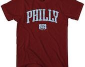 Philly 215 T-shirt - Men and Unisex - Philadelphia Tee - XS S M L XL 2x 3x 4x - 4 Colors
