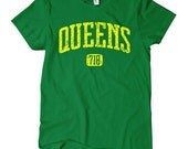 Women's Queens 718 T-shirt - S M L XL 2x - Ladies Queens NY Tee - New York City - 4 Colors