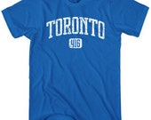 Toronto 416 T-shirt - Men and Unisex - XS S M L XL 2x 3x 4x - Canada Tee - 4 Colors