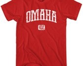 Omaha 402 T-shirt - Men and Unisex - XS S M L XL 2x 3x 4x - Nebraska Tee - 4 Colors