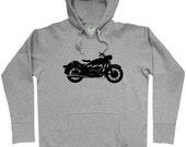 Vintage Motorcycle Hoodie - Men S M L XL 2x 3x - Moto Hoody Sweatshirt - 3 Colors