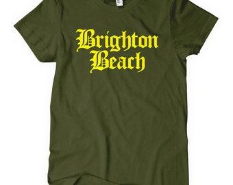 Ladies manhattan etsy for Brighton t shirt printing