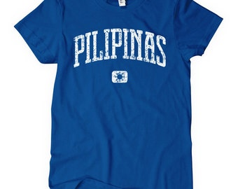 Women's Pilipinas T-shirt - S M L XL 2x - Ladies Philippines Tee - Filipina - 4 Colors