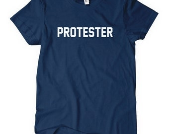Women's Protester T-shirt - S M L XL 2x - Ladies' Protest Tee - 4 Colors