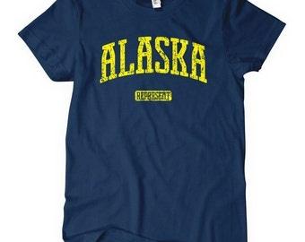Women's Alaska Represent T-shirt - S M L XL 2x - Ladies Alaska Tee - 4 Colors
