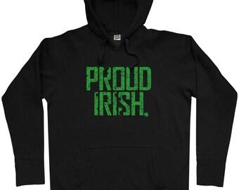 Proud Irish Hoodie - Men S M L XL 2x 3x - Ireland Hoody Sweatshirt - 4 Colors