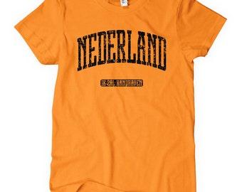 Women's Netherlands Tee - S M L XL 2x- Holland - Nederland T-shirt - 4 Colors