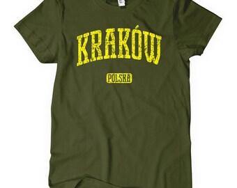 Women's Krakow T-shirt - Ladies Poland Tee - S M L XL 2x - Polish - 4 Colors