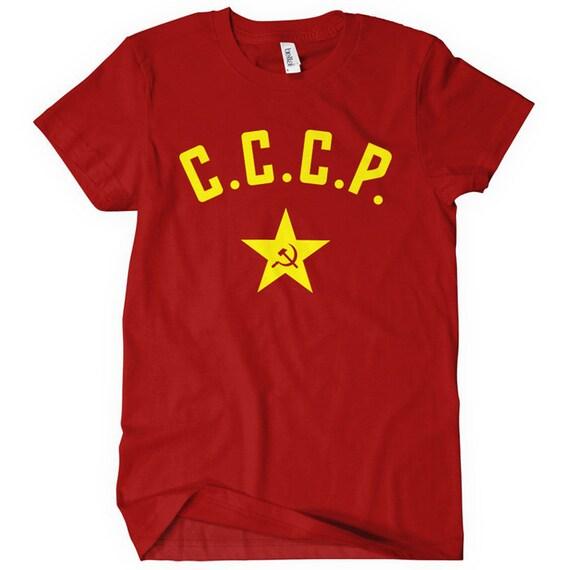 Women's CCCP Soviet Star T-shirt - S M L XL 2x - USSR Russia Ladies Tee - 4 Colors