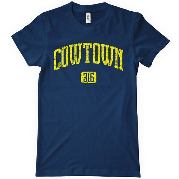 Women's Cowtown 316 Wichita T-shirt - S M L XL 2x - Ladies Wichita Kansas Tee - 4 Colors