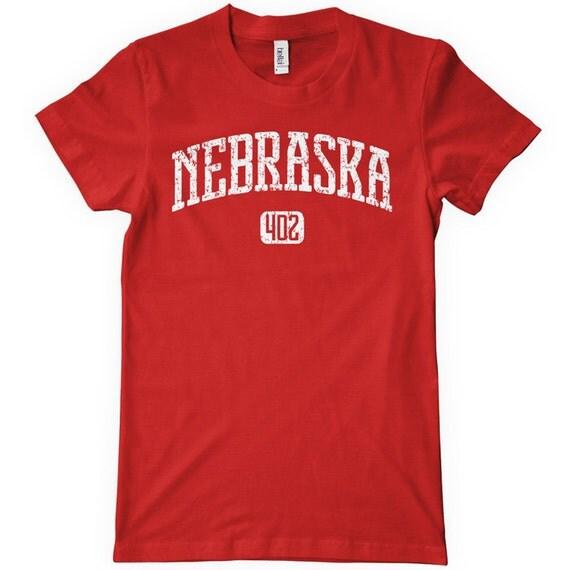 Women's Nebraska 402 T-shirt - S M L XL 2x - Ladies Nebraska Tee - 4 Colors