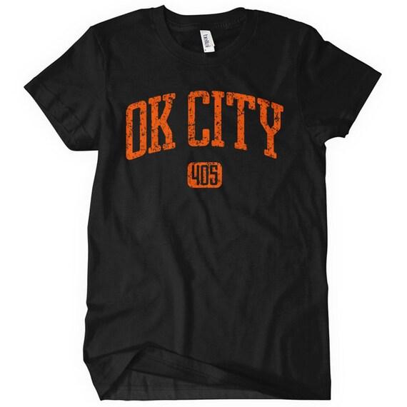 Women's Oklahoma City 405 T-shirt - S M L XL 2x - Ladies Oklahoma City Tee - OKC - 4 Colors
