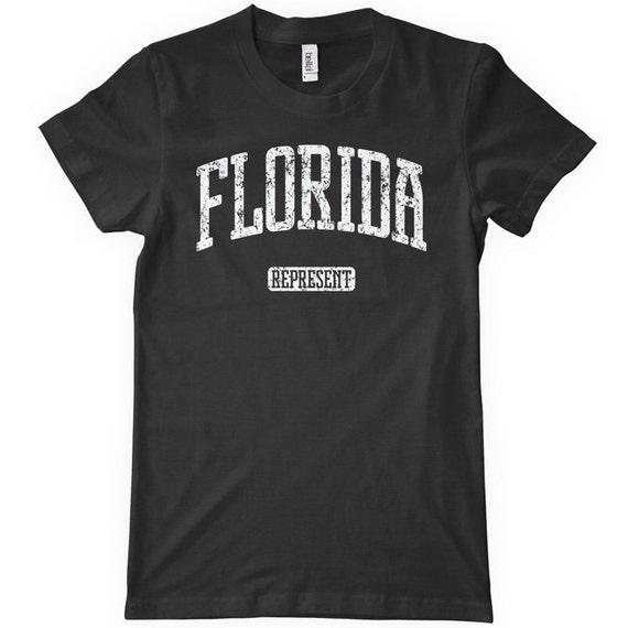 Women's Florida Represent T-shirt - S M L XL 2x - Ladies Florida Tee - 4 Colors