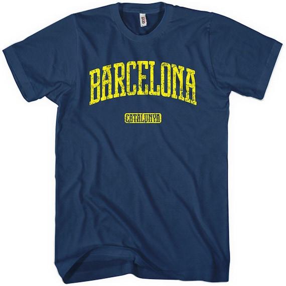 Barcelona T-shirt - Men and Unisex - XS S M L XL 2x 3x 4x - Catalonia Spain Tee - 4 Colors