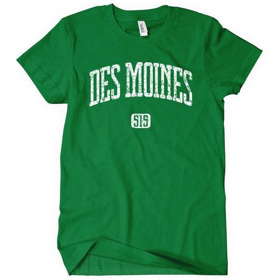 Women's Des Moines 515 T-shirt - S M L XL 2x - Ladies Des Moines Tee - Iowa - 4 Colors