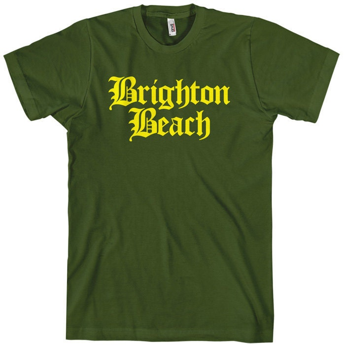 Brighton Beach T Shirt Brooklyn Nyc Gothic Tee Men And