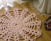 Crochet Rug - Light Salmon