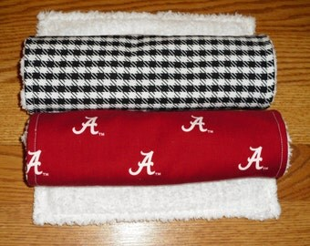 Burp Cloth Set Alabama and Houndstooth