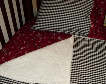 Baby Bedding Alabama and houndstooth 3 piece set