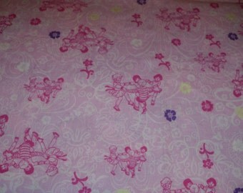 Baby Toddler Bedding Pink Ring Around the Rosie fitted sheet with  pillowcase