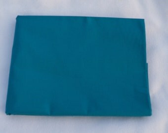 Caribbean Blue Solid Color  Baby Toddler Bed Fitted Sheet Cotton Turquoise