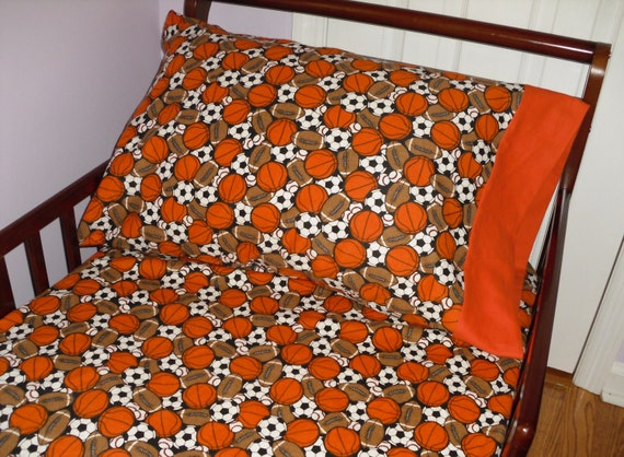 Football Soccer Basketball Baseball Baby Toddler Bedding