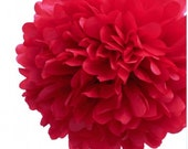Gift wrapping tissue Paper Pom Pom/paper ball -- Red
