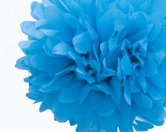 Gender Reveal paper flower tissue paper pomander in different sizes in pink and blue shades mix for baby showers, decorations, photo props.