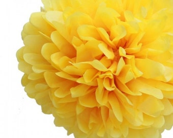 BUY 5 GET One FREE tissue paper Pom Poms Yellow or the color of your choice