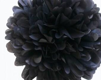 Tissue Paper Pom Pom Black