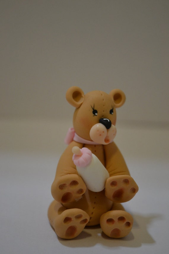 Baby shower party favor teddy bear holding baby bottle by cold il570xn altavistaventures Images
