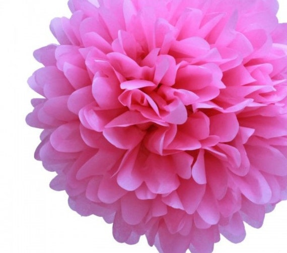Reserved listing for Nicole.Tissue Paper Pom Pom Hot Pink
