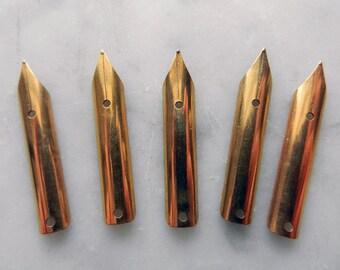 Iridium Tipped Fountain Pen Tips Stainless Steel, Gold Plated No. 736