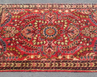 "Antique Persian Sarouk Rug in Mint Condition 24"" by 31"""