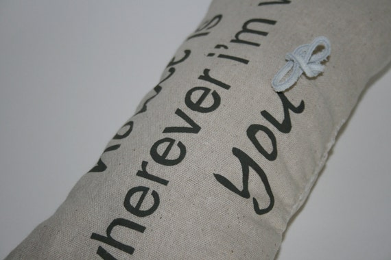 With You Ring Bearer Pillow, Wedding / Rings