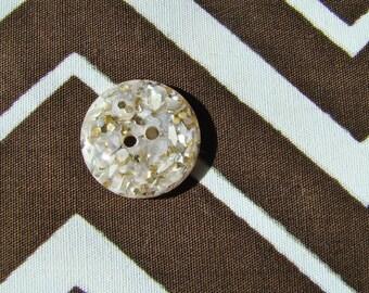 Vintage Buttons-Lucite -Mylar flecks-Sew Thru