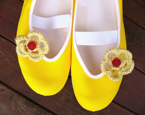 Sunny /ballet flats shoes jarmilki wedding woman bride poletsy fashion gift romantic elegant spring summer yellow crocheted solar beach