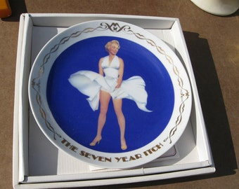 "Marilyn Monroe ""The Seven Year Itch"" 8.5 inch Plate Royal Orleans 20th Century Fox 1982"