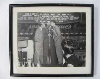 Dean Martin Sonny King and Myron Cohen at Leon & Eddie's 1945 One of a Kind Original Photo
