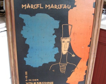 Marcel Marceau at the Berlin Volksbühne Original Poster 33.8 X 46.8 inches (86 X 119 cm)
