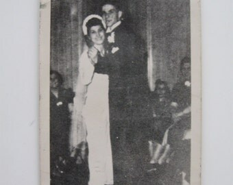 Frank Sinatra dancing with his bride Nancy Barbato at their wedding on February 4, 1939 super rare, possibly one of a kind original photo