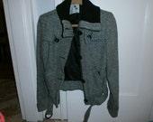 Black and White Wool Tweed Jacket