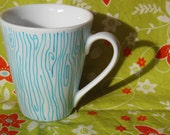 Hand Painted Wood Grain Mug