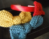 Knit Bow Headband with Interchangable Bows